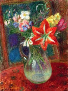 The Athenaeum - Vase of Flowers (William James Glackens - )