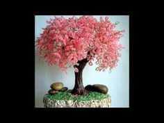 Красивые деревья из бисера своими руками - красивый декор вашего дома - YouTube