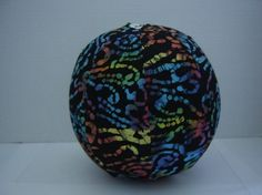Balloon Ball with Drawstring Pouch in Black Magic Batik by KerrysCrafts, $6.50
