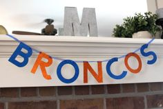 Superbowl Banner Denver Broncos Broncos by FancyFlamingo on Etsy, $14.00