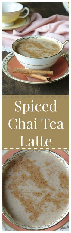 Spiced Chai Tea Latte – A wonderful drink made with chai tea, creamy milk, and the perfect blend of spices! The perfect drink for a chilly fall day!
