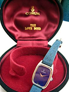 ee0d60252a3 Silver corum wristwatch includes love bond box 1970 s