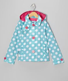 Take a look at this Turquoise Polka Dot Jacket - Toddler & Girls by Pink Platinum & iXtreme on #zulily today!