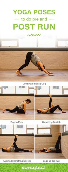 The very best yoga poses for runners, whether you're wanting to warm-up for a run or cool down after a hard workout. These simple poses are easy to do at home before you lace up your shoes and help…More Hard Workout, Workout Challenge, Gym Workouts, At Home Workouts, Workout Classes, Cool Yoga Poses, Flexibility Workout, At Home Workout Plan, Yoga Routine