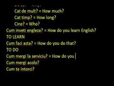 Engleza ABC incepatori WH Questions - Lectia 10 - YouTube Wh Questions, This Or That Questions, Learn English, You And I, Learning, Youtube, You And Me, Learning English, Tu Y Yo