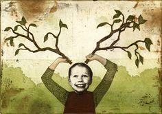 2012 - Piia Lehti Country Farm, Make Art, Autumn Leaves, Seasons, Spring, Nature, Painting, Image, Collage