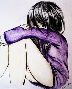 girl crying. sad.