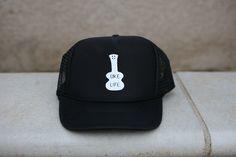 c60af0adf94 Ukulele Trucker Hat Black