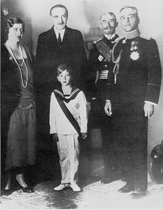 King Alexander I, Queen Marie, and Crown Prince Peter with the Ministers of State
