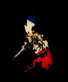 Philippines outline with flag colors