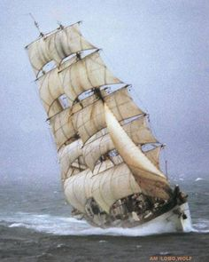 "Deutsche Marine ""Gorch Fock"" in a blow"