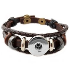 Button Bracelet Multilayer Leather Style: Leather wrap bracelets are unique, trendy, excellent for any occasion and handsome choice for men. Perfect for your personal jewelry collection. Great accessory and a unique gift.
