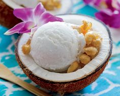 Perfect for summer: Coconut Sorbet with Cashew Brittle, from Chloe's Vegan Desserts! #ChloeCoscarelli