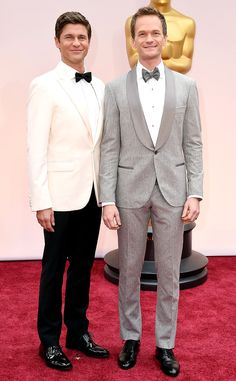Neil Patrick Harris & David Burkta In Brunello Cucinellie and Calvin Klein- 2015 Oscars