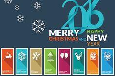 Flat Design Christmas Cards - Illustrations
