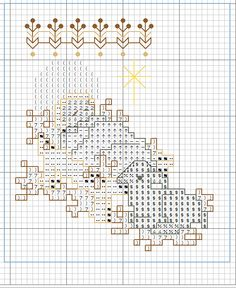Kreuzstich Mini Cross Stitch, Cross Stitch Needles, Simple Cross Stitch, Cross Stitch Charts, Cross Stitch Patterns, Christmas Stocking Holders, Diy Christmas Ornaments, Xmas Crafts, Cross Stitch Christmas Stockings