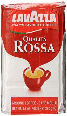 Lavazza Qualita Rossa Caffe Ground Espresso Coffee 88Ounce Bag Packagequantity 1 >>> Read more reviews of the product by visiting the link on the image.