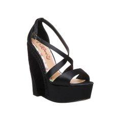 NEW CeCe L'Amour Black Kiera Wedge Sandals sz 9 - $20