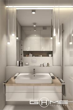 Project in Warsaw residential Central Park Ursynów on Behance Bathroom Vanity Storage, Laundry In Bathroom, Small Bathroom, Bathroom Design Inspiration, Bathroom Interior Design, Latest Bathroom Designs, Beautiful Bathrooms, Modern House Design, Bathroom Furniture