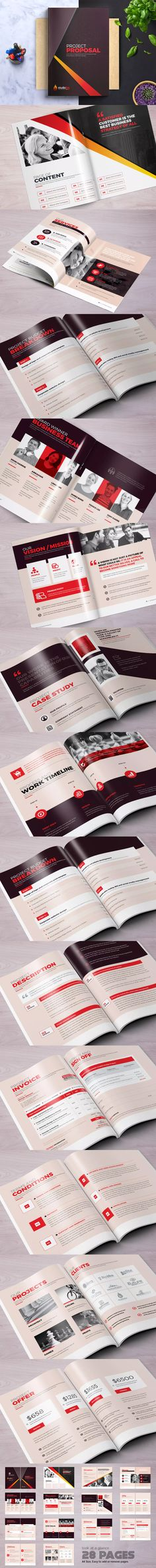 Project Proposal Design Template InDesign INDD A4