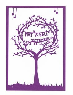 Personalised Event Paper Cut Tree