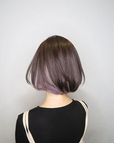 Dark-Bob-with-Blonde-Underneath Short Brown Hairstyles for Fashionable Women Cute Hairstyles For Short Hair, Bob Hairstyles, Curly Hair Styles, Bob Haircuts, Haircut Bob, Trendy Hair, Asian Bob Haircut, Easy Hairstyle, Hairstyle Ideas