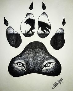 Wolf claw drawing