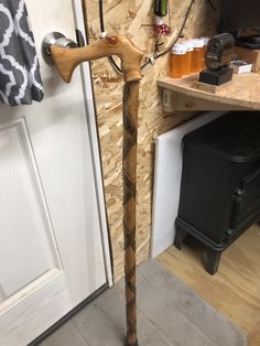 Another hand carved cane