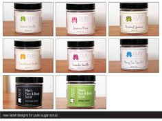 Pure Elements Co's all natural sugar scrubs