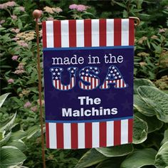 Personalized Made in the USA Garden Flag | Home and Entertaining Gifts