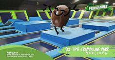 """En #Promanuez te recomendamos visitar """"Fly Time Trampoline Park"""" en Monclova, un muy buen lugar para llevar a tus hijos a divertirse, comer dulces e incluso para organizar tus eventos y cumpleaños infantiles :D."""