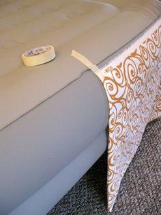 Faking a Bedroom- Part 2: DIY Bedskirt | DIY Home Staging Tips