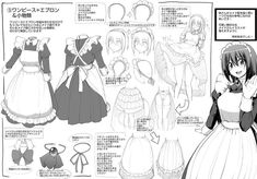 Book Drawing, Manga Drawing, Drawing Tips, Figure Drawing Reference, Pose Reference, Anime Haircut, Victorian Maid, Anime Maid, Hair Sketch