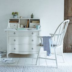 What furniture collection would be complete without a beautiful bureau? Introducing Loaf's Quill in Vintage White (above, £695). http://www.hglivingbeautifully.com/2016/02/26/home-comforts-lovely-new-things-from-loaf/