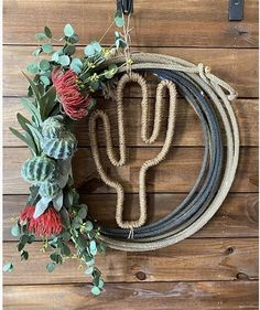 Rope Crafts, Diy And Crafts, Western Style, Western Wreaths, Western Decorations, Westerns, Design Floral, Western Crafts, Crafty Craft