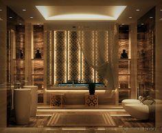 ekzotik banyo tasarımı