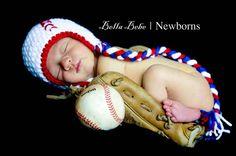 Happy Baby Baseball Hat by HappyBabyCrochet on Etsy, $25.00