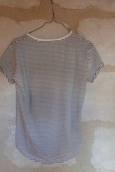 T-shirt manche courte, style marinière
