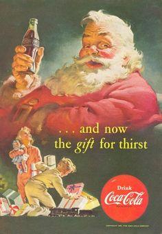 Santa Series #5 Seasons Greetings Coca Cola