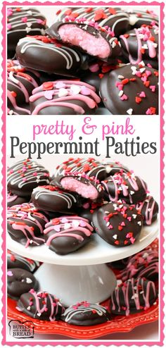 Homemade Pink Valentines Peppermint Patties - a simple, easy to make treat perfect for your Valentine! Butter With A Side of Bread via @ButterGirls