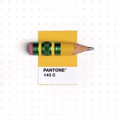 This Splendid Tumblr Pairs Tiny Things With Pantone Colour Cards-This well used #2 pencil is from her design studio.