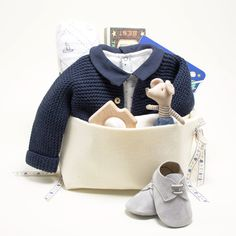 75a35d194ecc Loving this new elegant and luxury Baby Gift Basket featuring Petit Bateau  at Bonjour Baby Baskets