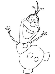 How to draw Olaf - Free step-by-step easy to follow video drawing tutorial