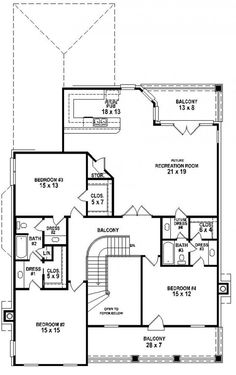 #654700 - 4 Bedroom 3.5 Bath Southern Traditional 2 Story House Plan : House Plans, Floor Plans, Home Plans, Plan It at HousePlanIt.com