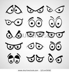 Set of cartoon eyes. by bekulnis, via Shutterstock