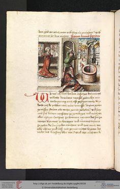 Cod. Pal. germ. 84: Antonius von Pforr: Buch der Beispiele ; Passionsgebet (Schwaben , um 1475/1482), Fol 14v