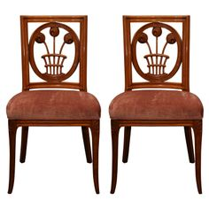 Fine & Rare Pair of  Early Art Deco Chairs by André Groult