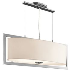 View the Kichler 43360 Arbon 6-Bulb Indoor Pendant with Oval Fabric Shade at LightingDirect.com. olde bronze or chrome