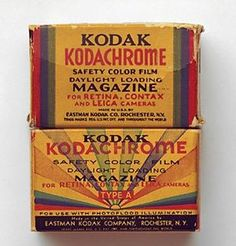"The new Kodachrome was first marketed in 1935 in the 16mm home movie format, and in 1936 in 8mm as well as in 35mm and 828 roll-film sizes for amateur still photography. Later it also became available as 120 roll film and 4x5 sheet film for professional use. Initially it had a ""speed"" equivalent of ISO 8 in today's terms, but later versions had ""speeds"" of 25, 40, 64, and 200."
