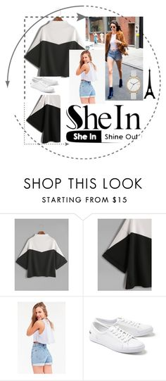 """SHEIN"" by melisacamdzic ❤ liked on Polyvore featuring BDG, Lacoste and Skagen"